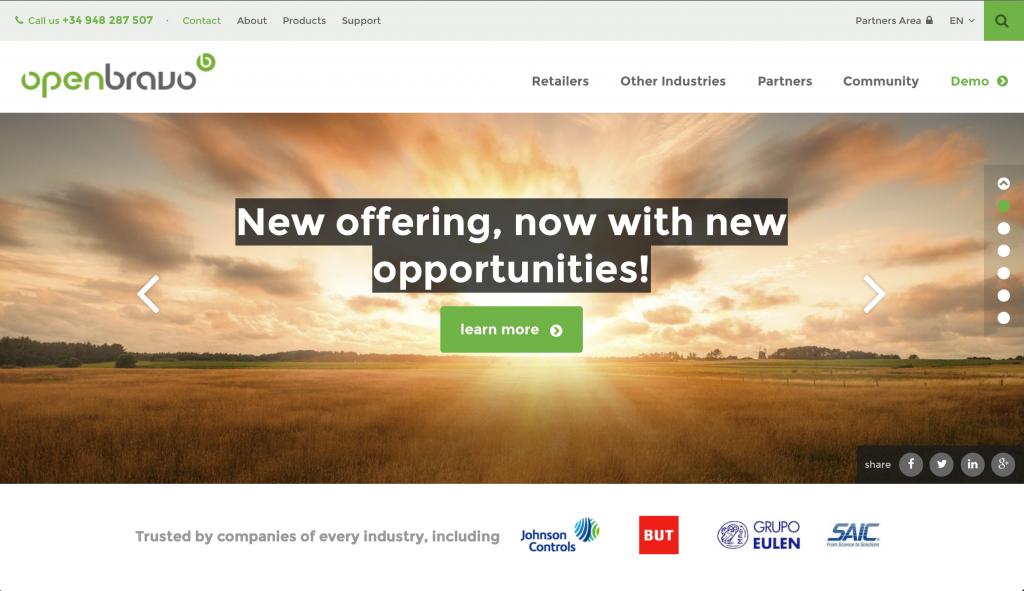 New website New Offering