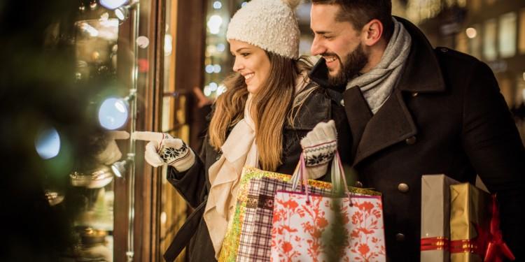 Joy of buying Christmas gifts